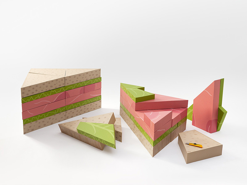 3d-puzzle, Sandwichpuzzle