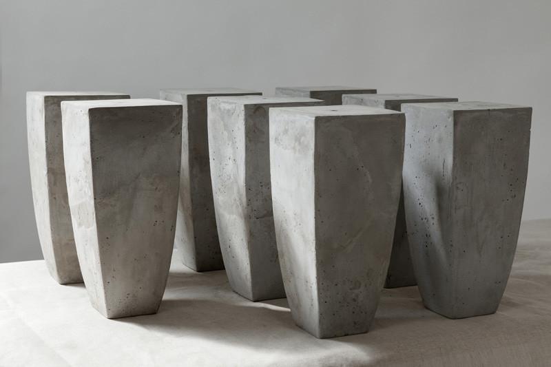 betonvase, Schaufenster, Dekoration, Vase, Betonimitation, Serie, Abguss, Zementvase, Sonderanfertigung